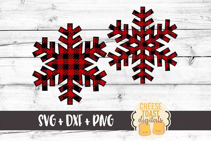 Buffalo Plaid Snowflake Set of 2 - Christmas SVG Files