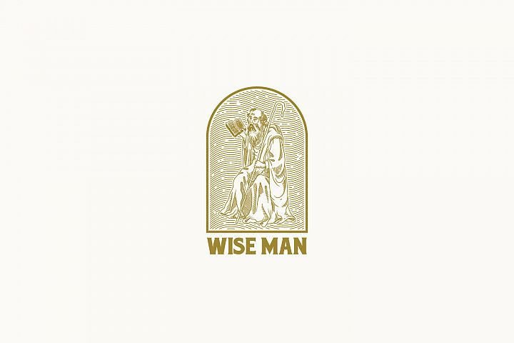 Wise Man Logo Template