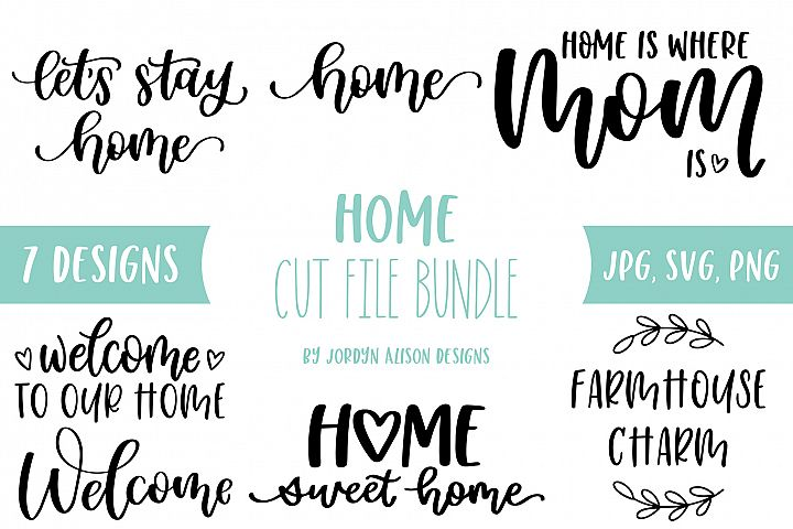Home SVG Bundle, Welcome to Our Home Bundle