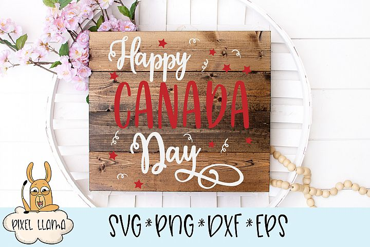 Happy Canada Day Wood Sign SVG