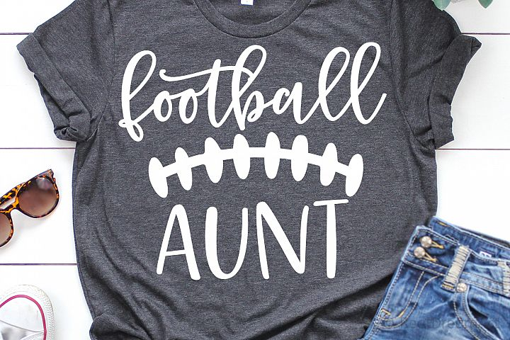 Football Aunt SVG, DXF, PNG, EPS