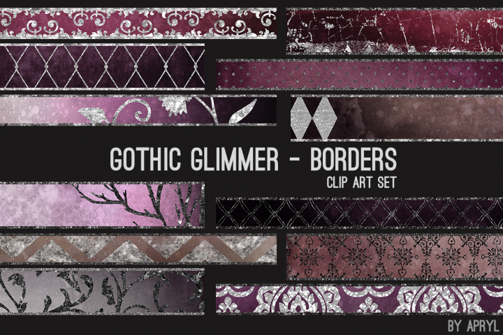 Gothic Glimmer Art Borders Dividers