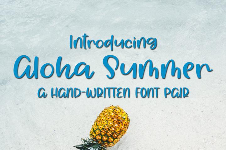 Aloha Summer - A Summery Hand-Written Font