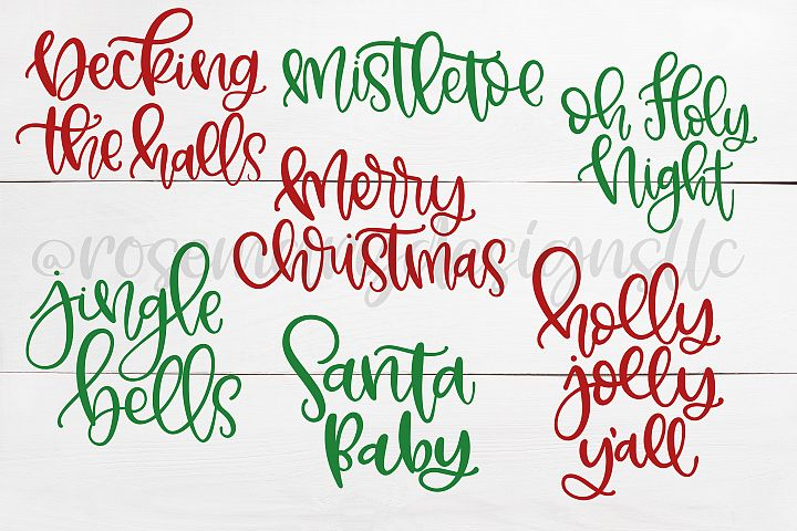 Christmas Hand Lettering Bundle SVGs