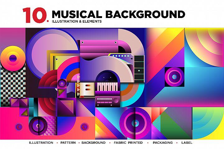 10 Music Illustration Background