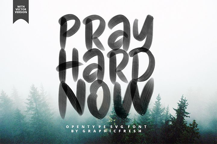 Pray Hard Now - 30 OFF - SVG Font