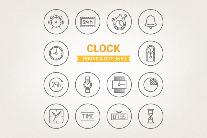 Circle Clock Icons
