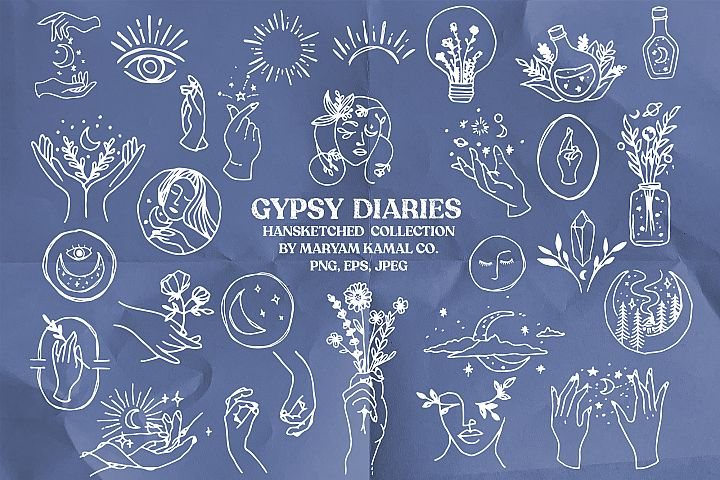 Gypsy Diaries - Hand sketched illustrations