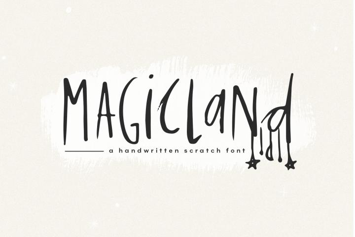 Magicland - A Handwritten Font