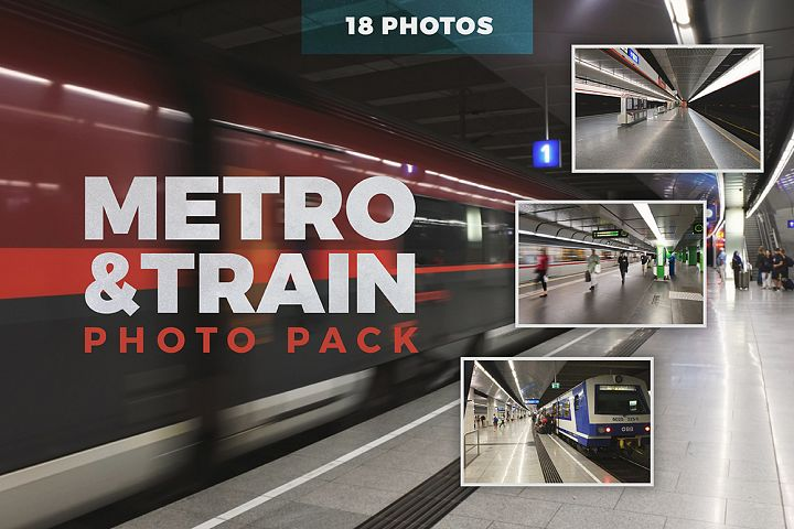 Metro & Train - Photo Pack 18 photos