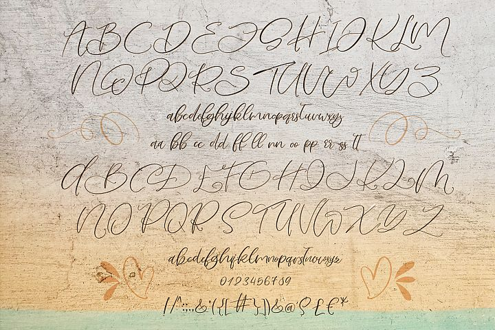 Love Mango. Script font with doodles example image 10