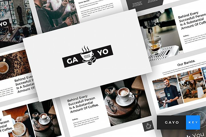 Gayo - Coffee Shop Keynote Template