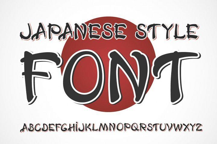 Japanese OTF vintage label font. Uppercase only!