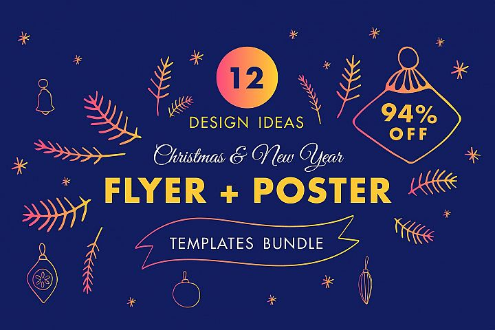 Winter Flyer & Poster Design Templates Bundle SALE