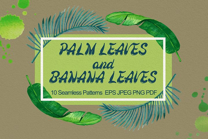 Palm and Banana Leaves Patterns