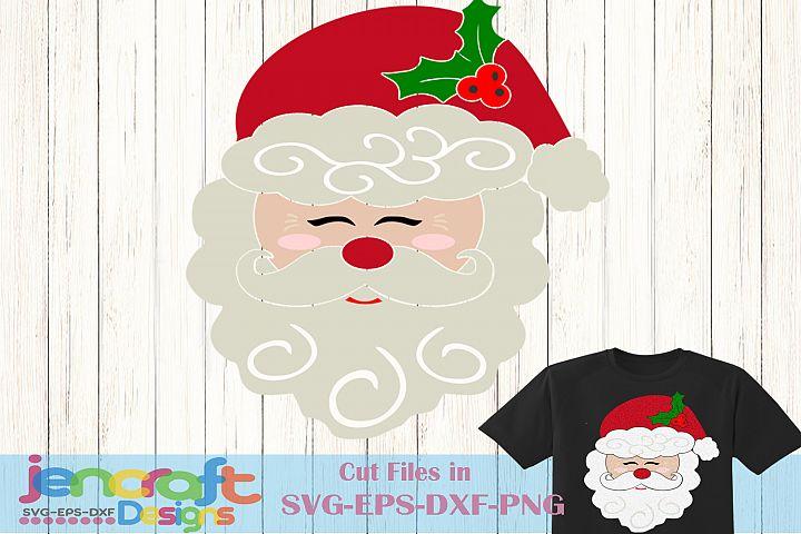 Santa Claus Svg, Christmas Santa Face Svg, Christmas Svg
