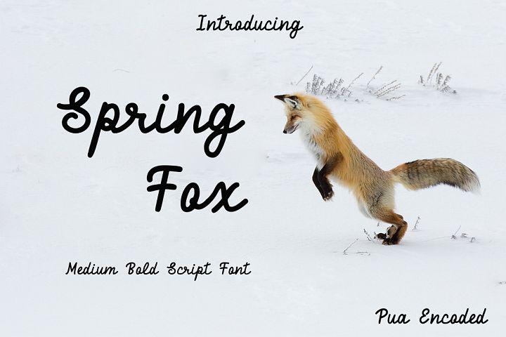 Spring Fox Script Font