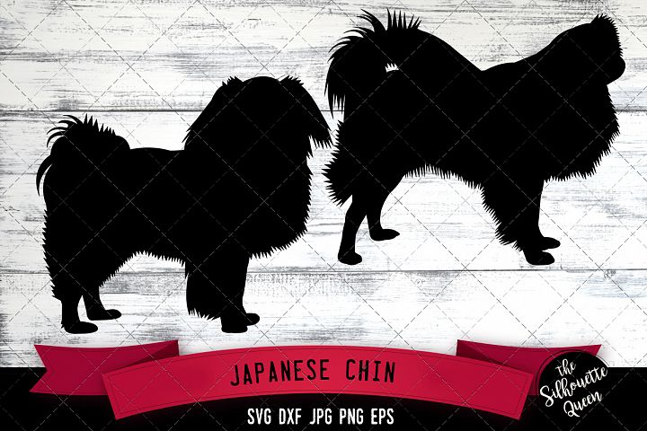 japanese chin svg files  dog svg  silhouette file