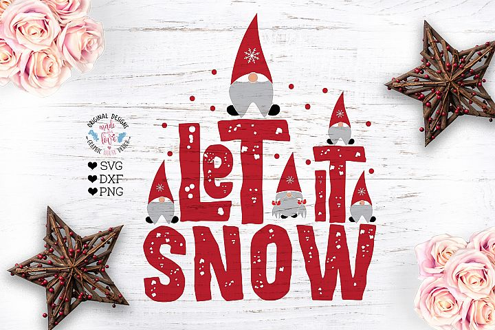 Let it Snow - Gnome SVG