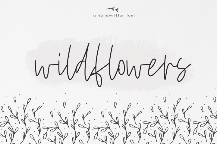 Wildflowers - A Handwritten Script Font