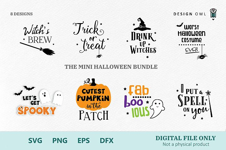 The mini Halloween bundle - SVG files for crafters