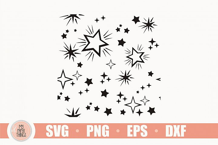 Star svg, Star pattern svg, Seamless Pattern SVG