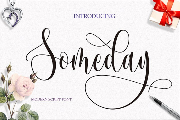 Someday Script Font