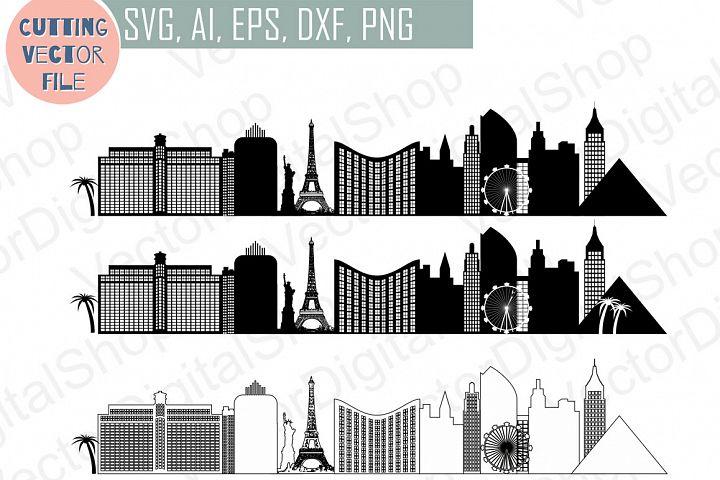 Las Vegas Vector, Nevada Skyline USA city, SVG, JPG, PNG, DWG, CDR, EPS, AI