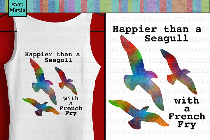Seagull Digital Sublimation Download, Beach Sublimation File