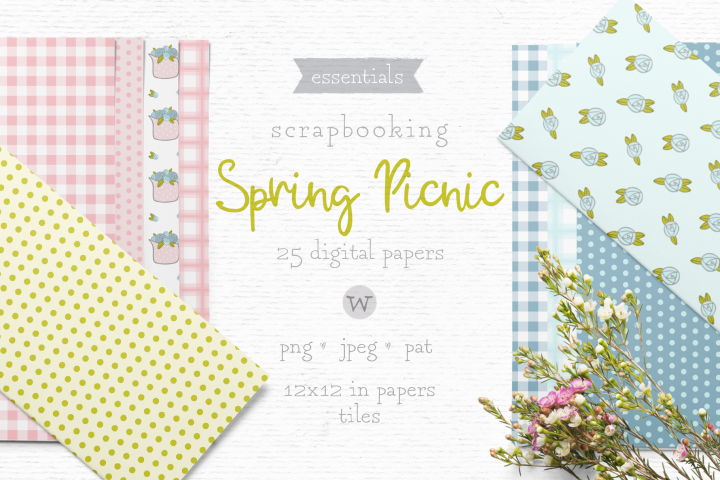 Summer digital papers, shabby chic paper, vintage paper