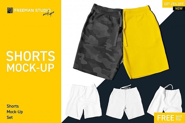Shorts Mock-Up Set