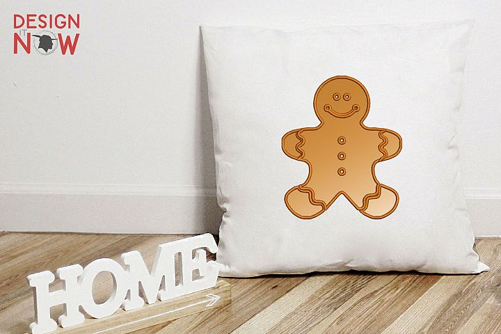Gingerman Applique Design, Christmas Embroidery Pattern