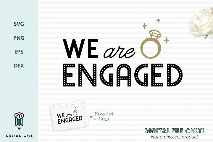 We are engaged - SVG file example