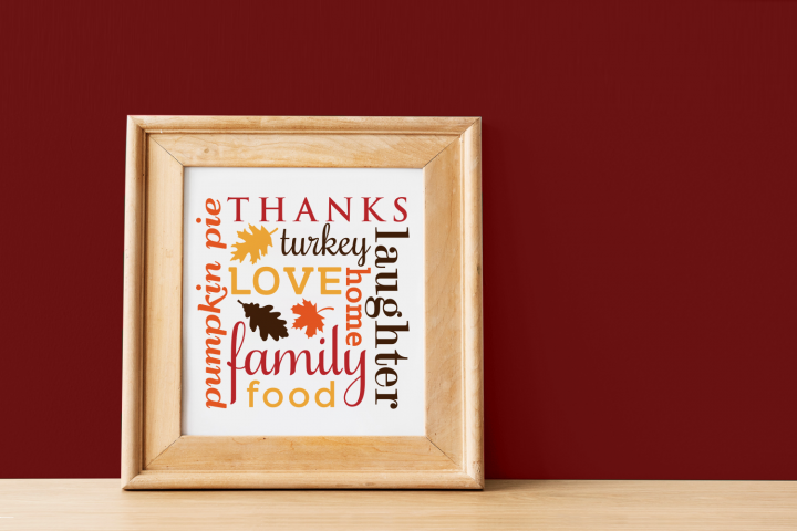 Thanksgiving Subway Art SVG File