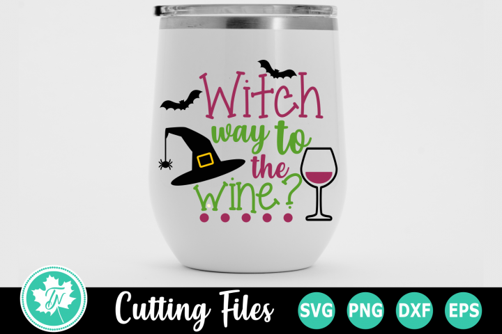Witch way to the Wine - A Halloween SVG Cut File