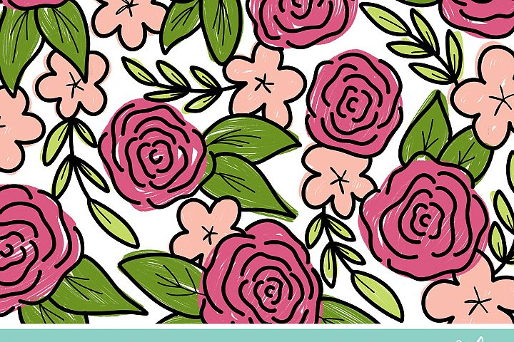 4 Spring Floral Coloring Pages example 3