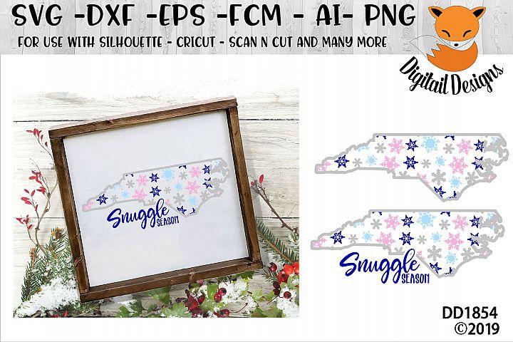 North Carolina Snowflake Winter SVG