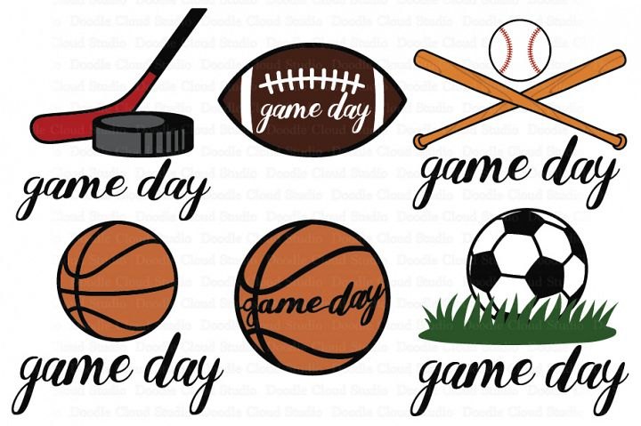 Game Day SVG, Sport Ball SVG, Game Day Clipart. Football.