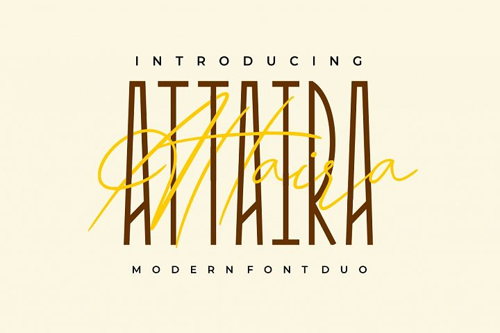Attaira - Display And Signature Font