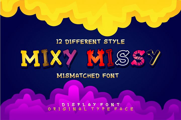 Mixy Missy - 12 Style Display Font
