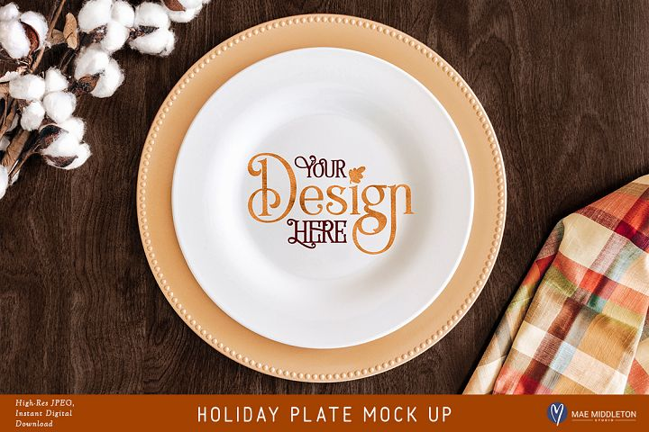Holiday Plate crafters mock up for Fall / Thanksgiving