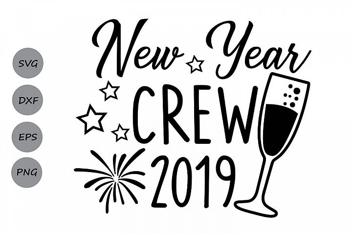 new year crew svg, new years svg, new years eve svg.