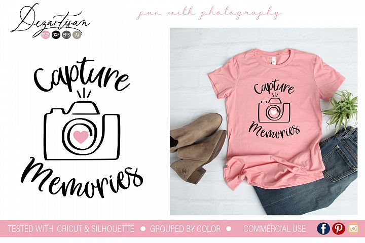 Capture Memories SVG | DXF Cut File