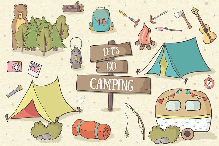 Lets Go Camping - Free Design of The Week Font