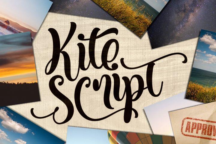 Kite Script - Free Font of The Week Design 1