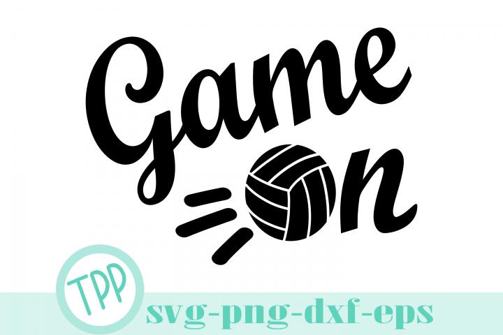 Volleyball svg, Game on svg, volleyball design