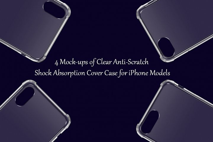 Apple iPhone 8,8plus,X,Xs Max Anti-Scratch Case Mock-ups