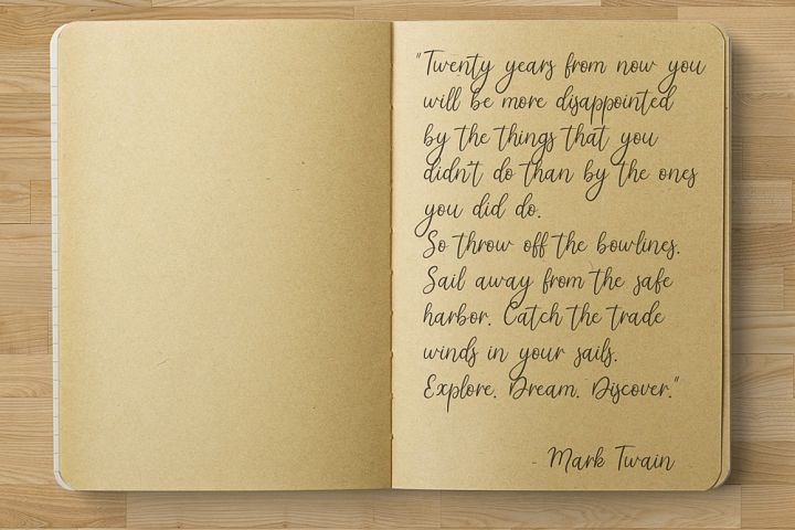 Tatima. Handwritten font.  example 2
