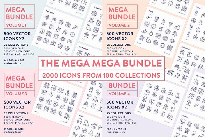 Line Icons - Mega Bundle Vol 1-4 25 off