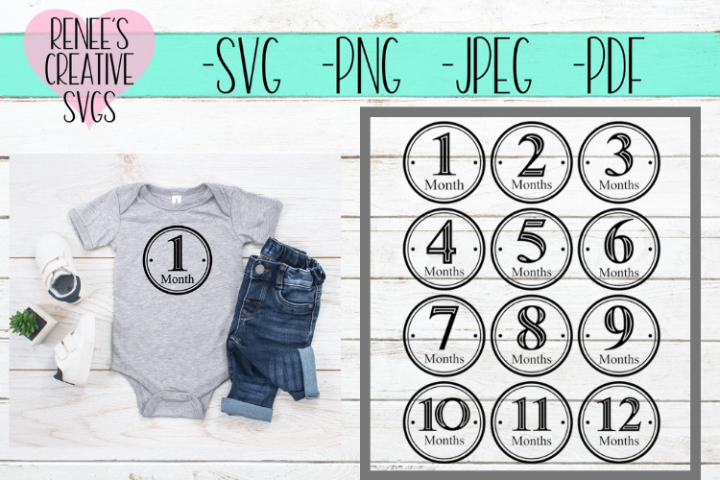 Baby Monthly Milestone Bundle  Monthly SVG   SVG Cut File